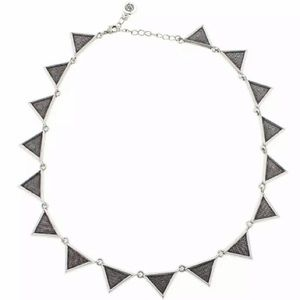 Silver Etched Triangle Necklace